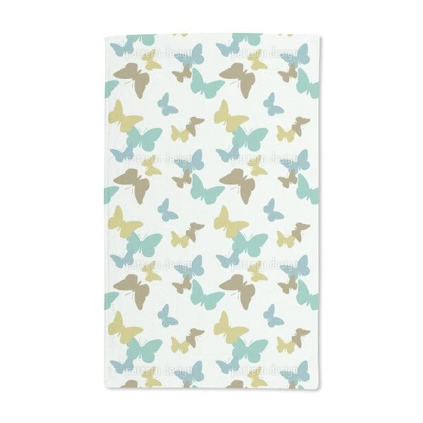 Time of the Butterflies Green Hand Towel (Set of 2)