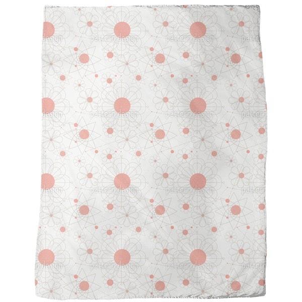 Construction Floral Fleece Blanket