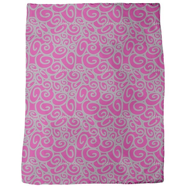 Beginning and End Magenta Fleece Blanket