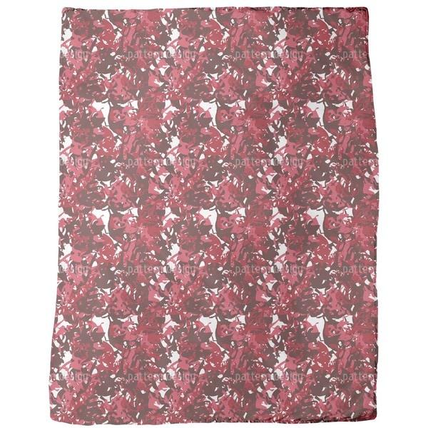 Camouflage Red Fleece Blanket