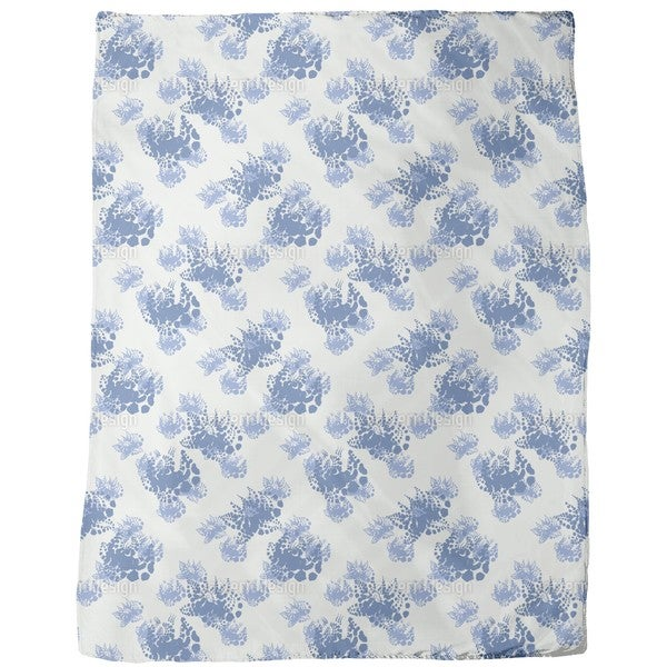 Muhlviertel Flowers Fleece Blanket