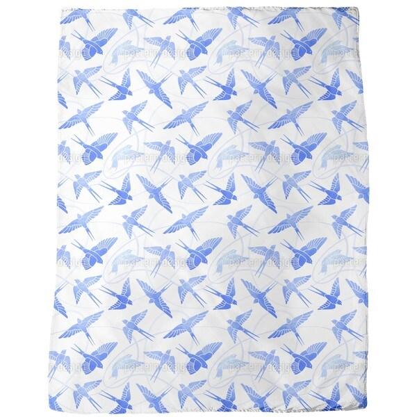 Swallows Flight Fleece Blanket