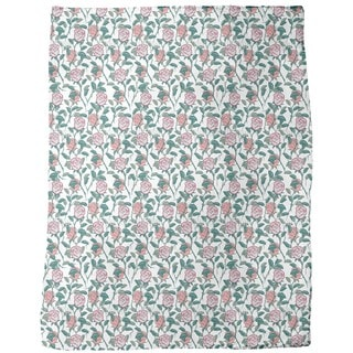 In the English Rose Garden Fleece Blanket