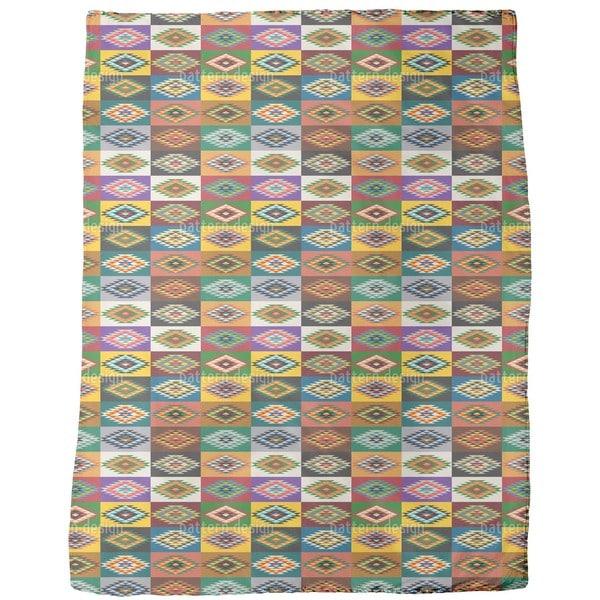 Apache Patchwork Fleece Blanket