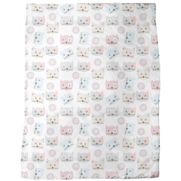 Cats Wearing Patchwork Fleece Blanket