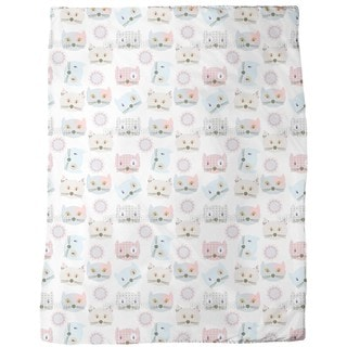 Cats Wearing Patchwork Fleece Blanket