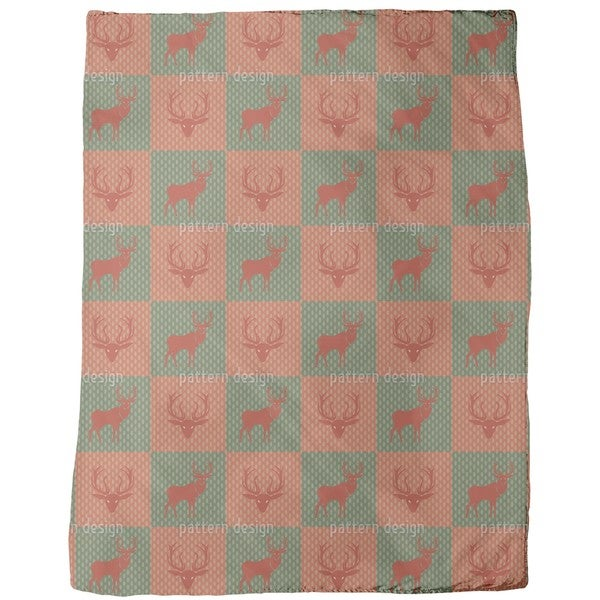The Forest King Red Green Fleece Blanket