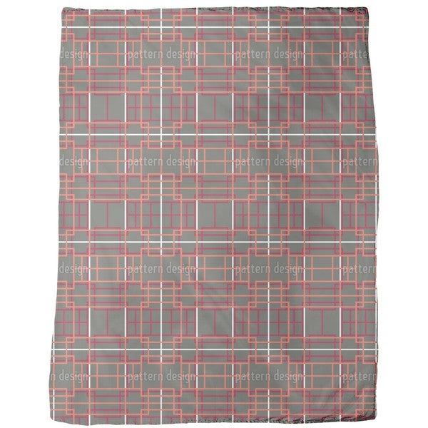 Asian Lattice Fleece Blanket