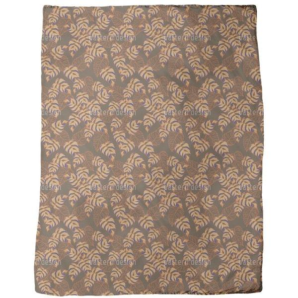 Birch Leaf Expression Fleece Blanket