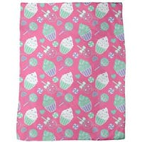 Happy Desserts Pink Fleece Blanket