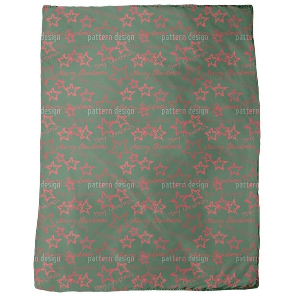 Merry Christmas Green Fleece Blanket