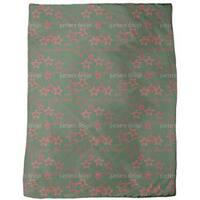 Merry Christmas Green Fleece Blanket