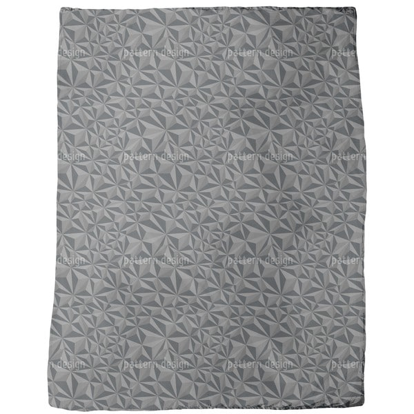 Paper Geometry Dark Grey Fleece Blanket