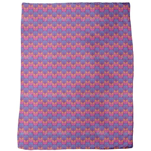 Geometric Tulips Fleece Blanket