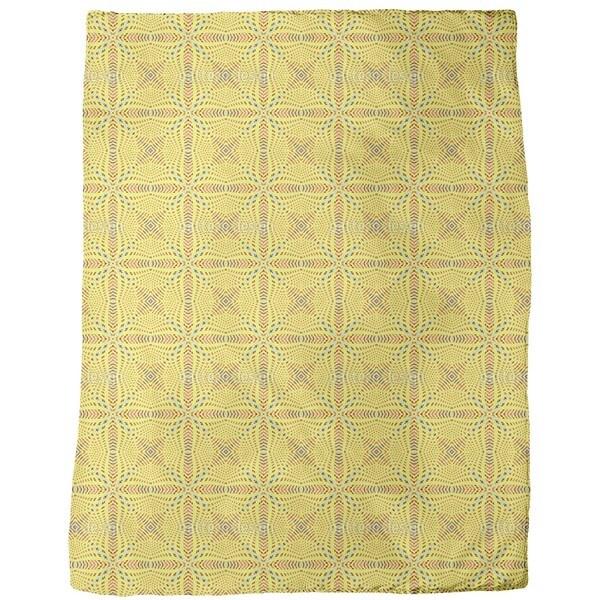 Abstract Grid Fleece Blanket