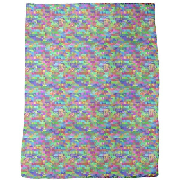 Colorful To the Square Fleece Blanket