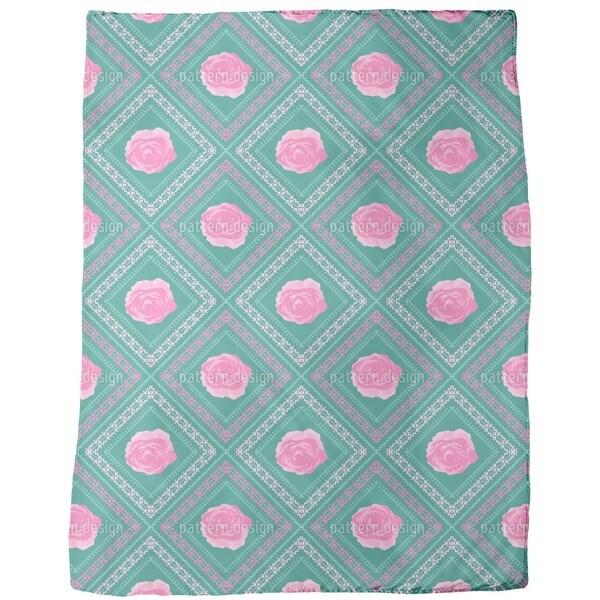Pixels in the Rose Garden Fleece Blanket