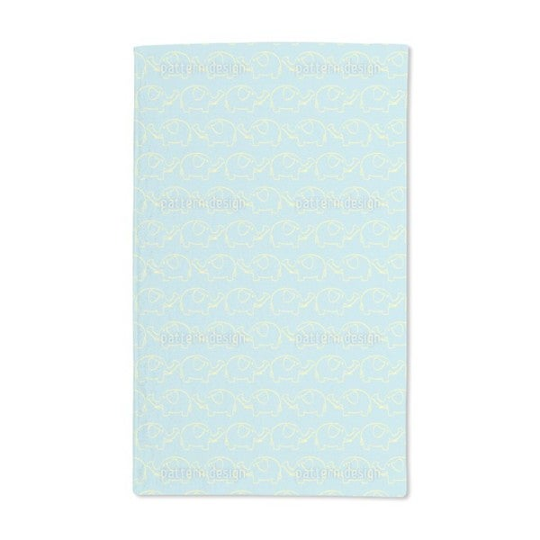 Elephant March Hand Towel (Set of 2)