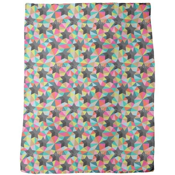 Stars on Colored Glass Fleece Blanket