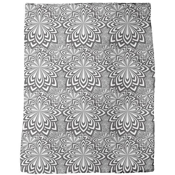 Psychedelic Flowers Fleece Blanket