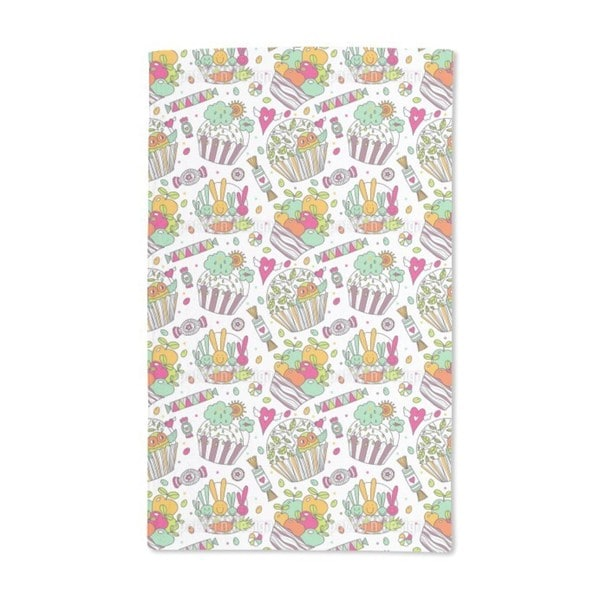 Colorful Cup Cake World Hand Towel (Set of 2)