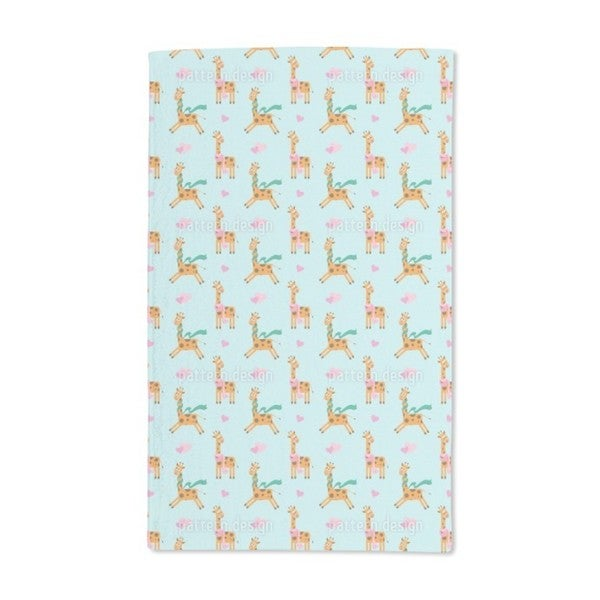 Cute Giraffe Hand Towel (Set of 2)