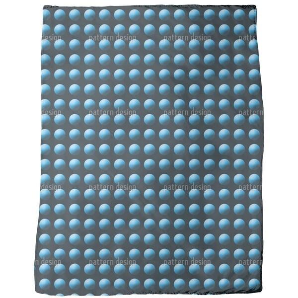 Press the Blue Button Fleece Blanket