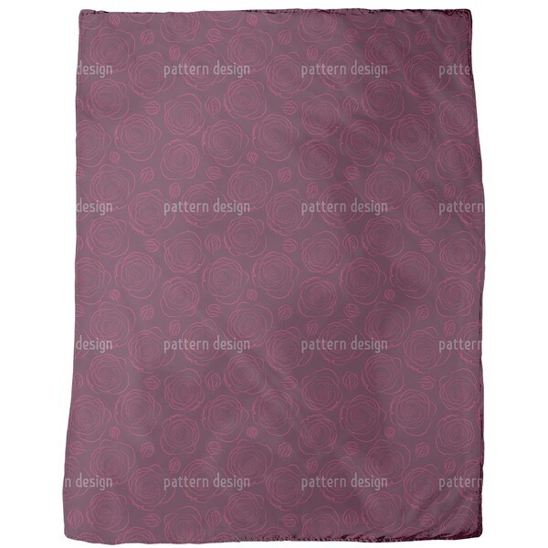 Her Beloved Roses Fleece Blanket
