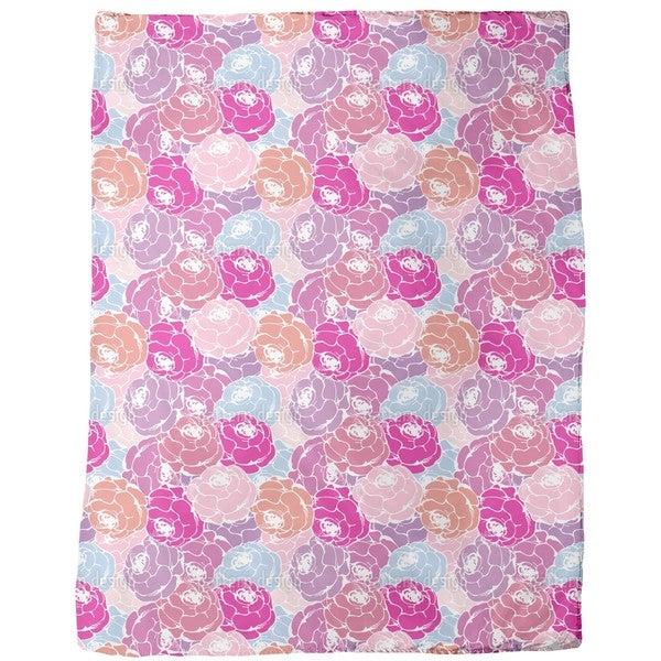 Rose Bouquets Fleece Blanket
