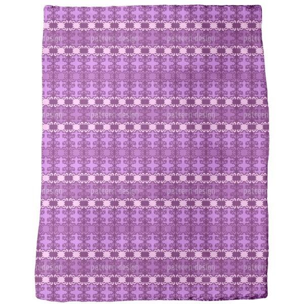 Blur Damask Fleece Blanket