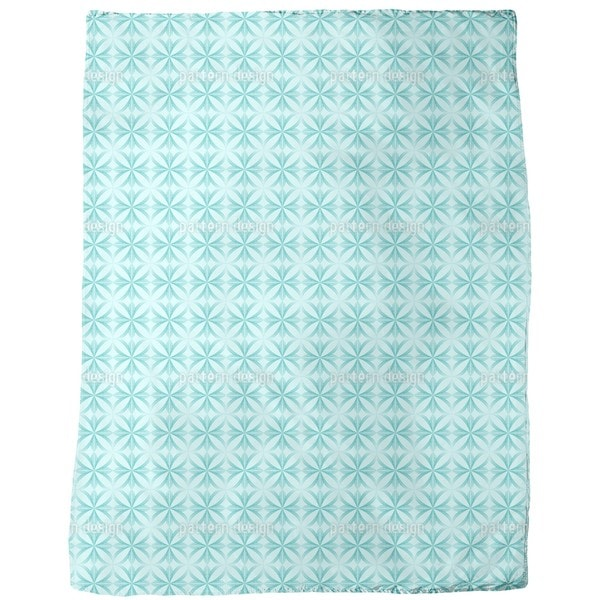Ocean Floral Fleece Blanket