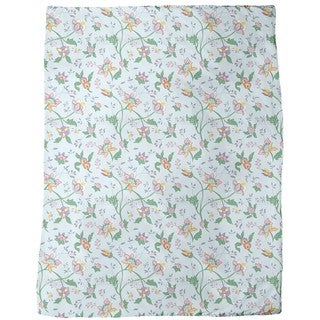 Little Blue Flower Fantasy Fleece Blanket