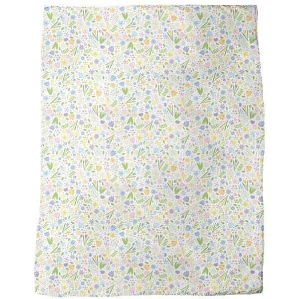 Arrangement Floral Fleece Blanket