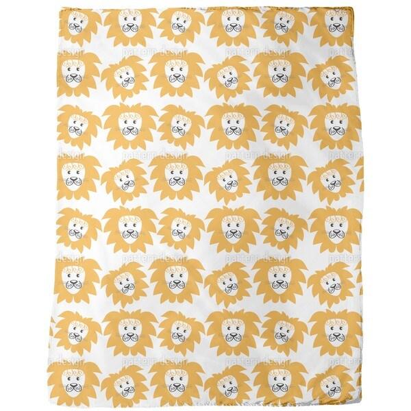 Lion Heads Fleece Blanket