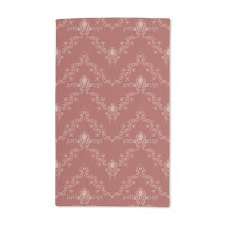 Floral Baroque Red Hand Towel (Set of 2)