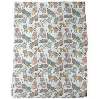 Winter Cats Fleece Blanket