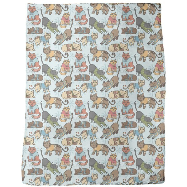 Winter Cats Fleece Blanket