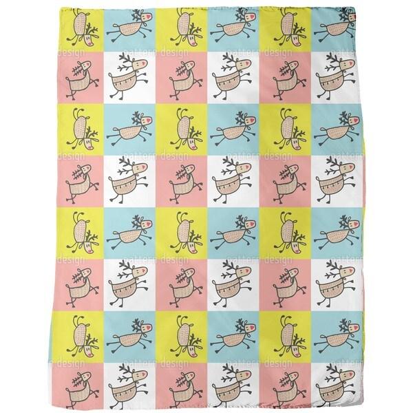 Jumping Deer Fleece Blanket