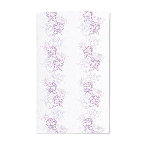French Peonies Hand Towel (Set of 2)