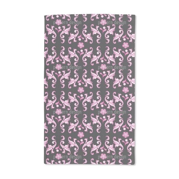 Baroquo Folk Pink Hand Towel (Set of 2)