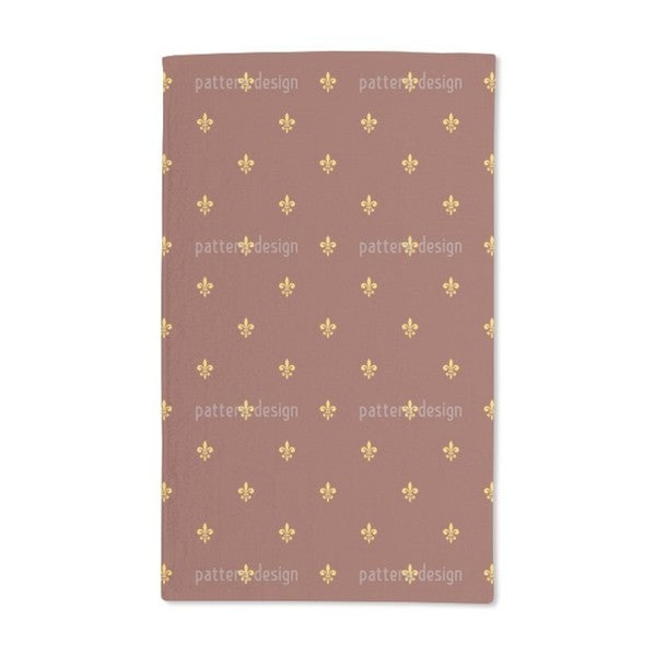 Shop Fleur De Lis Hand Towel Set Of 2 Free Shipping Today
