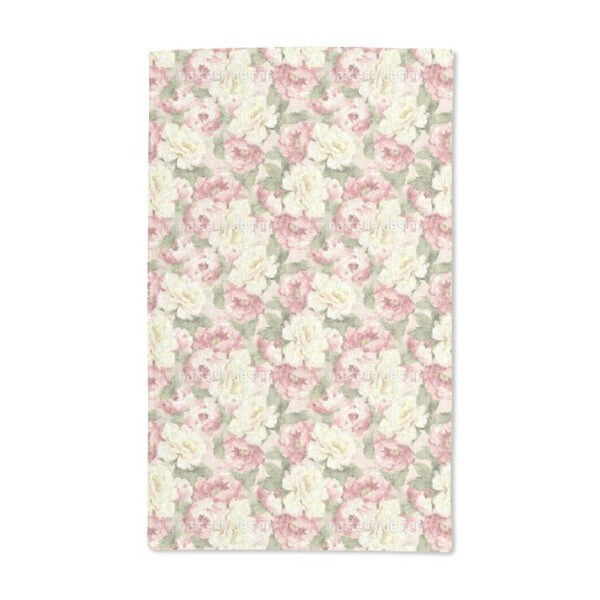 Patina Roses Hand Towel (Set of 2)