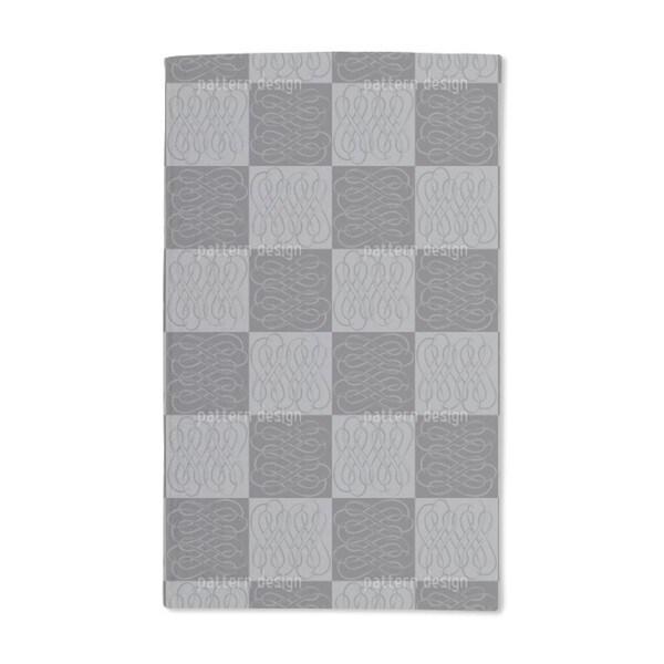 Checkerboard Bows Hand Towel (Set of 2)