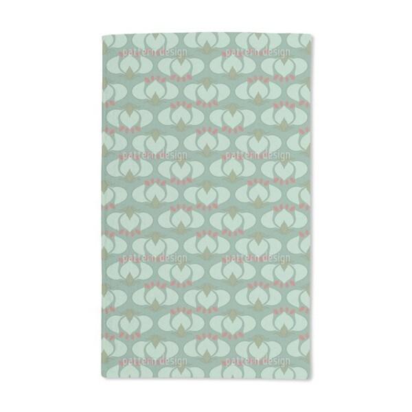 Art Nouveau Tulip Hand Towel (Set of 2)