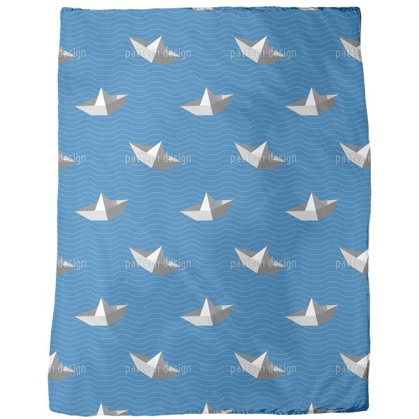 Paperboats Fleece Blanket
