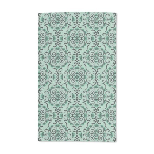Lace Idol Green Hand Towel (Set of 2)