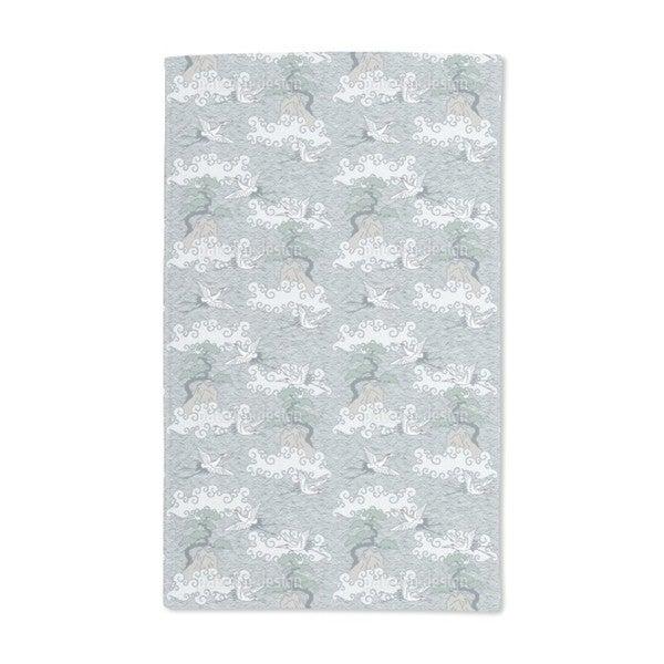 Cranes Over the Ocean Hand Towel (Set of 2)