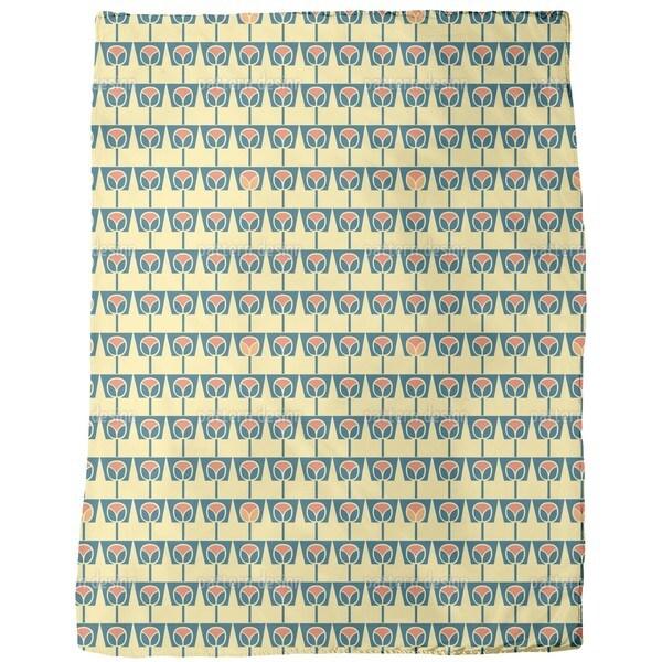 Flowerpots Yellow Fleece Blanket