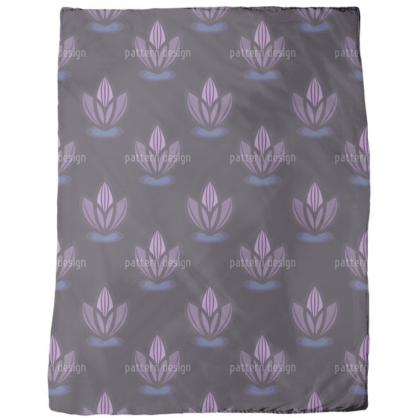 Lotus Lilac Fleece Blanket