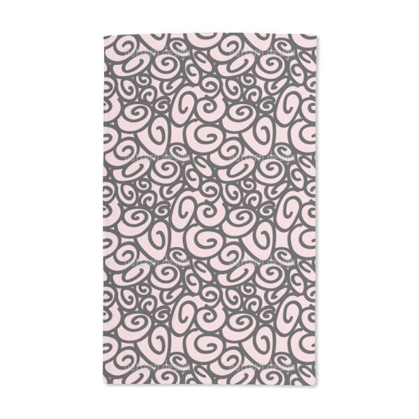 Beginning and End Pink Hand Towel (Set of 2)